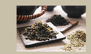 Different loose leaf tea variations.